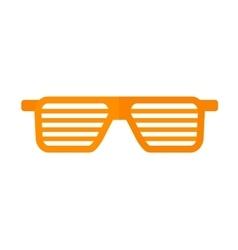 Striped glasses vector image
