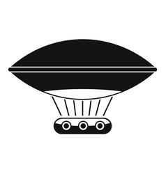 Hot air balloon with gondola basket icon vector