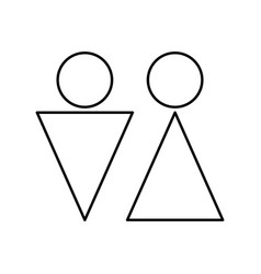 Man and woman black color icon vector