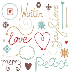 Holiday elements kit vector