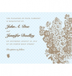 formal invitation vector image