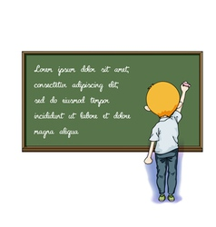 Write on blackboard vector