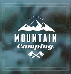 Retro vintage summer camping badge mountine vector