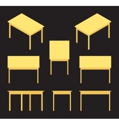 Isometric yellow table vector
