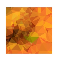 Deep carrot orange abstract low polygon background vector