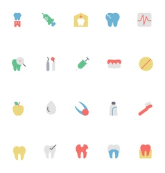 Dental colored icons 2 vector