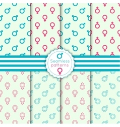 Set seamless pattern vector