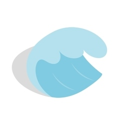 Sea or ocean wave icon isometric 3d style vector