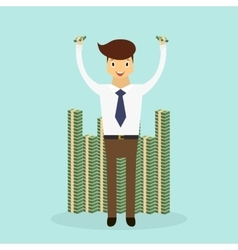 Business character scene vector image