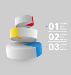 Abstract 3d pie chart infographics vector