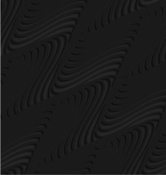 Black 3d diagonal merging waves vector