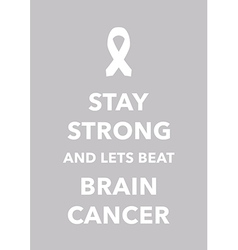 brain cancer poster vector image vector image