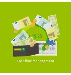Cashflow management cartoon vector image
