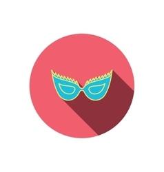 Festive mask icon masquerade carnival sign vector
