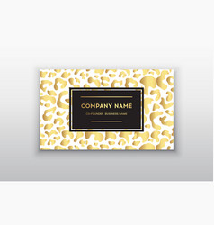 Golden business cardgift or vip cards with vector