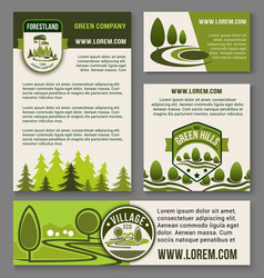 Landscape eco design service set vector