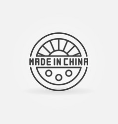 Made in china creative icon vector