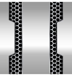 metallic banner technology background vector image vector image