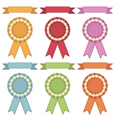ribbons and rosettes vector image