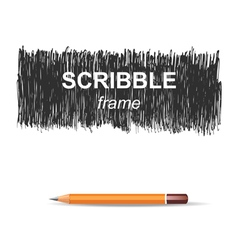 scribble background vector image
