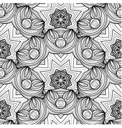 seamless monochrome ornate pattern vector image vector image