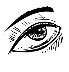 Sketch eye vector image