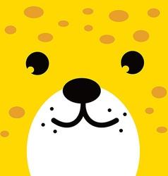 Square leopard face icon button vector