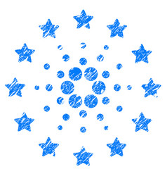 Starred cardano icon grunge watermark vector