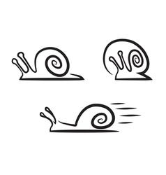 Stylized snails vector image