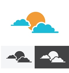Sun cloud logo vector