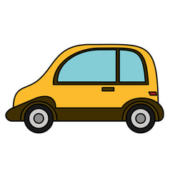 taxi transport automobile vehicle vector image