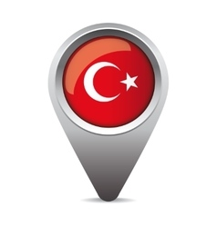 Turkey flag pointer vector