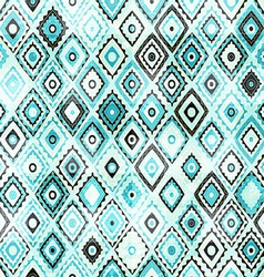 Vintage mosaic seamless with grunge effect vector