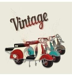 vintage motorbike poster vector image