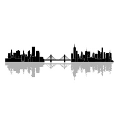 The silhouette of the city vector