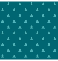 Green christmas seamless pattern with little trees vector