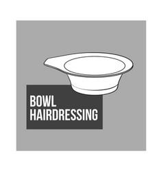 color mixing plastic hairdresser bowl sketch vector image