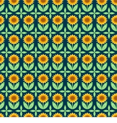 Sunflower pattern vector