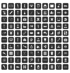 100 disabled healthcare icons set black vector
