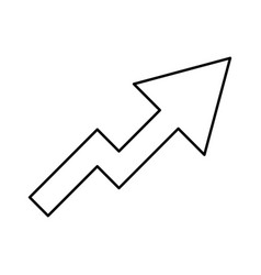 Chart of growth black color icon vector