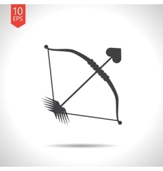 Bow and arrow icon eps10 vector