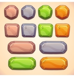 Stone buttons vector