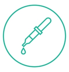 Pipette line icon vector