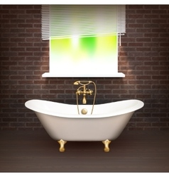 Realistic bathroom poster vector
