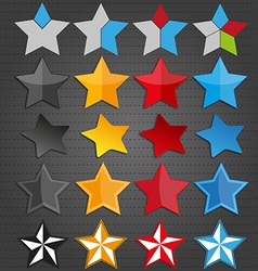 Colorful stars vector
