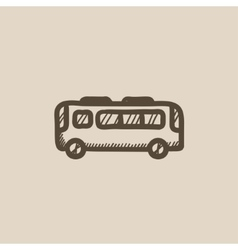 Bus sketch icon vector