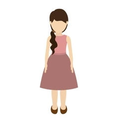 Avatar girl cartoon vector
