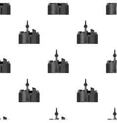Canadian skyscraper canada single icon in black vector