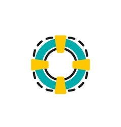 Color line icon for flat design Lifebuoy vector image