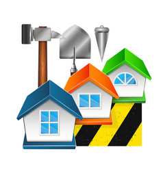 Construction and repair of houses vector